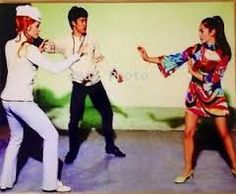 Bruce Lee with Sharon Tate and Nancy Kwan (The Wrecking Crew)
