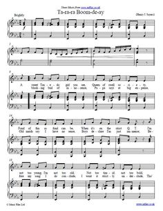 Ta-ra-ra Boom-de-ay credited to Henry J. Sayers - download free sheet music