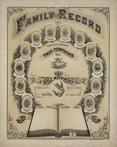 Vintage Family Record Printable ~ http://familyrecord.us/fr/randr/images/gems.jpg