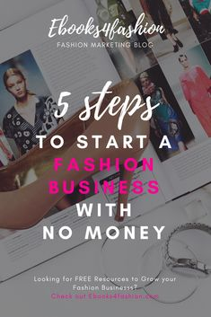 to Start a Fashion Business with No Money 5 Steps to Start a Fashion Business with NO MONEY. Learn more on 5 Steps to Start a Fashion Business with NO MONEY. Learn more on How to start a fashion business in 2019 Social Media Marketing Courses, Sales And Marketing Strategy, Online Marketing Courses, Viral Marketing, Fashion Marketing, Online Courses, Mail Marketing, Marketing Ideas, Digital Marketing