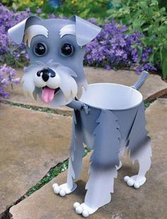 for Candace - Adorable Schnauzer Mini Bobblehead Metal Dog Planter Stand Home GardenStop your dog from pulling on their leash. Want to look forward to walks again? Learn the worst mistake youre makingTall Planter holds a growers pot Clay Flower Pots, Flower Pot Crafts, Clay Pot Crafts, Diy Home Crafts, Clay Pots, Crafts For Kids, Arts And Crafts, Dog Crafts, Flower Pot People