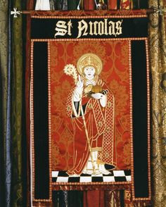 For the feast of St. Nicholas: a banner made by Watts, as a commission in memory…