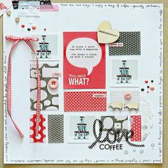 #papercraft #scrapbook #layout.  From High in the Sky scrapbooking coffee for Get It Scrapped
