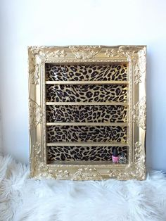 Gold Leopard Baroque Shelving Frame by DaintyCreations on Etsy https://www.etsy.com/listing/200569451/gold-leopard-baroque-shelving-frame