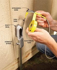 Electrical Wiring: How to Run Power Anywhere  		The easiest way to bring electricity to a shed, garden or lamppost