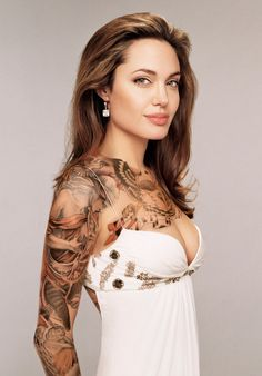 Angelina Jolie fake tattoo add on  Looks pretty neat