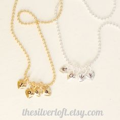Single Tiny Heart Initial Charms