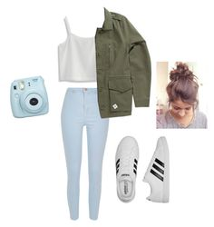 """""""Untitled #16"""" by mayarose1704 ❤ liked on Polyvore featuring Chicwish, River Island, Vans, adidas and Fujifilm"""