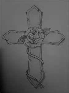Rose Cross Custom Tattoo Designs Pukiboyaposs Portfolito Free