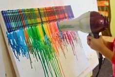 Melted crayon art! Fun for all ages :) or leave them in the window on a 'hot' sunny day.