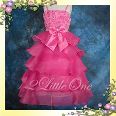 Hot Pink Wedding Flower Girl Pageant Party Dress Sz 5-6 Pink Flower Girl Dresses, Hot Pink Flowers, Girls Dresses, Flower Girls, Summer Wedding, Diy Wedding, Wedding Cakes, Dream Wedding, Wedding Ideas