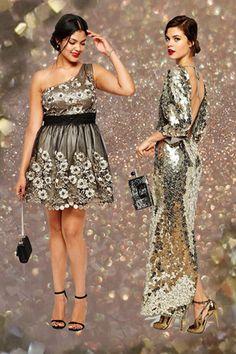 Jetzt ist DIE Gelegenheit, um beim Silvester-Outfit in die Vollen zu gehen. Glitzer, Cocktailkleider, Highheels: Bei den Silvester-Outfits 2015/2016 ist einfach alles erlaubt...