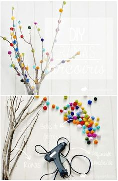 101 Easy DIY Spring Craft Ideas and Projects DIY Decorated Branches With Fieltrable Wool And Mini Garden – 101 Easy DIY Spring Craft Ideas and Projects – DIY & Crafts The post 101 Easy DIY Spring Craft Ideas and Projects appeared first on Diy Crafts. Pot Mason Diy, Mason Jar Crafts, Easter Crafts, Diy And Crafts, Crafts For Kids, Diy Y Manualidades, Diy Simple, Diy Home Decor Projects, Easy Diy Projects
