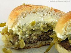 Green Chili, Pepper, & Cream Cheese Burger (1) From: Cinnamon Spice And Everything Nice, please visit