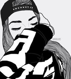 ✧ pinterest: sophiebo14 ✧ Hipster Girl Drawing, Tumblr Girl Drawing, Hipster Drawings, Tumblr Drawings, Girly Drawings, Cartoon Girl Drawing, Art Drawings Sketches, Girl Cartoon, Cartoon Art