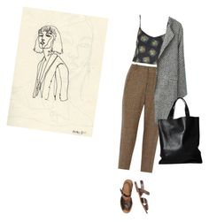 """""""12:07 pm"""" by upinflaaames ❤ liked on Polyvore featuring mode, Topshop, SUNO New York en London Edit"""