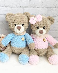 Amigurumi Crochet Toys Crochet Bear Crocheted Toys Knitting And Crocheting Amigurumi Patterns Crochet Teddy Bear Pattern, Knitted Teddy Bear, Crochet Bunny, Crochet Dolls, Teddy Bear Gifts, Amigurumi Patterns, Stuffed Toys Patterns, Baby Patterns, Handmade Toys