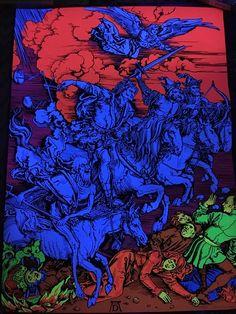 Vintage Blacklight Poster Albrecht Dürer Four Horsemen Of The Apocalypse 1497