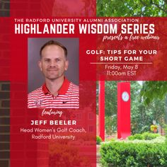 Pick up some techniques, tips, and tricks for your short game from Radford University Women's Golf coach Jeff Beeler. Radford University, Golf Tips, Wisdom, Events, Activities, Game, Happenings, Venison, Gaming