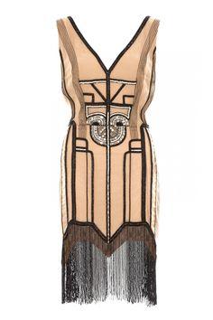 Art-Deco embellished dress.