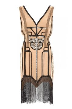 Art-Deco embellished dress. @designerwallace