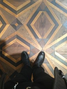 Fantastic and unusual wood floor. Have you ever seen this pattern before?  #interiordesign #millwork