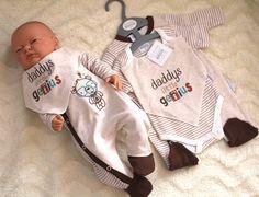 Baby Set Erstausstattung Gr. 50,56,62 68 3 Teile Strampler Body Halstuch NEU!