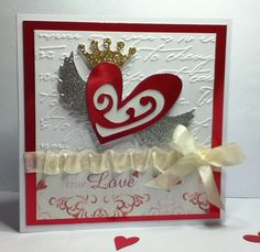Handmade Valentines Day Card Your Love Gives by pollypurplehorse, $5.95