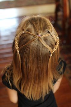 Four easy to do hairstyles for girls.