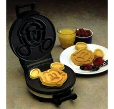 everyone's favourite disney character, i love this mickey mouse waffle maker. pinned by susie from http://wafflemakers.net/