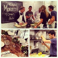 At the Moroccan cooking class