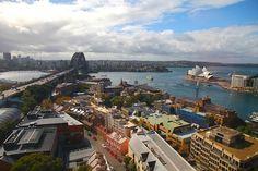 Sydney Harbor, Australia Aerial by Chris Seufert, via Flickr San Francisco Skyline, Paris Skyline, Sydney, Australia, Photo And Video, World, Travel, The World, Trips