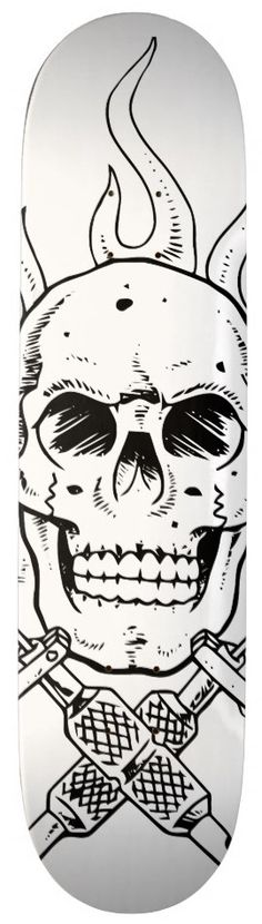 Skull Tattoo Skateboard Deck