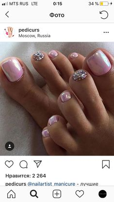 Lovely pink toenail ideas for spring and summer. #pink #toenails #toeart #nailart #summernails #springnails