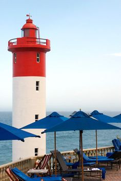 Umhlanga lighthouse.  Falaza is less than 3 hours from Durban and offers luxury 4 star tented accommodation. http://falaza.co.za/