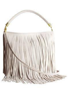 Fringe Handbags and Shoes - Best Fall 2014 Fringe Bags and Shoes Fringe Handbags, Fringe Purse, Fringe Bags, Grey Handbags, H&m Bags, Purses And Bags, Fashion Bags, Fashion Accessories, Fall Fashion