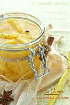 conserve épices vanille piment et ananas