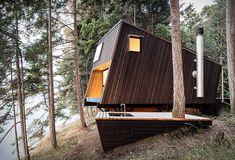 Cabin in Valdes Island Shack/ built by Burnkit founder Josh Dunford
