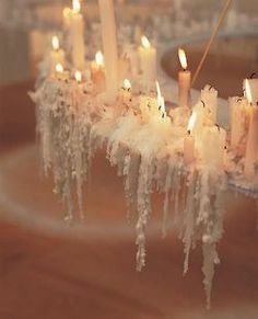 Something so romantic about melting candles Candle Lanterns, Candle Wax, Candle Chandelier, Drip Candles, Candle Lighting, Pink Candles, Noel Christmas, White Christmas, Christmas Candles