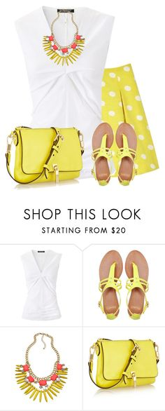 """Yellow for Summer"" by daiscat ❤ liked on Polyvore featuring Strenesse, Pull&Bear, Blu Bijoux and Elizabeth and James"
