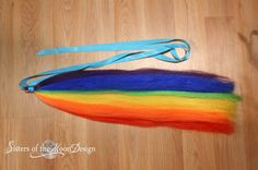 My Little Pony tail rainbow dash hair fall tie by SistersOfTheMoon
