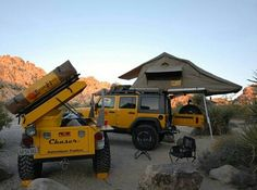 Jeep. Rubicon. Camping