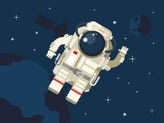 Astronaut-blue_flat_vector_illustration.png (700×525)