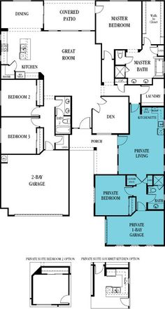 Lennar Multi-generational home: genius! New House Plans, Dream House Plans, House Floor Plans, My Dream Home, The Plan, How To Plan, Next Gen Homes, Future House, My House