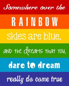Rainbow Wall Art - Children's Decor Printable by LittleLifeDesigns
