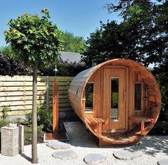 backyard design – Gardening Tips Backyard Patio, Backyard Landscaping, Sauna House, Barrel Sauna, Outdoor Sauna, Sauna Design, London Garden, Log Homes, Jacuzzi
