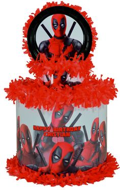 Deadpool Personalized Pinata - WorldOfPinatas.com