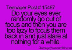 Haha! I really thought that I was the only person who did this!