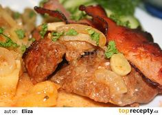 Prokládaná krkovička recept - TopRecepty.cz Pork, Pizza, Treats, Chicken, Sweet, Ethnic Recipes, Kale Stir Fry, Sweet Like Candy, Candy