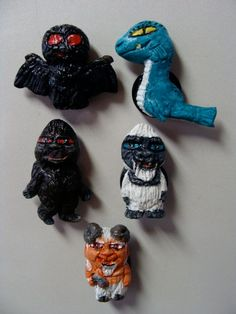 Famous Cryptids Magnet SetCutie style/fullbody by YokaiJohn